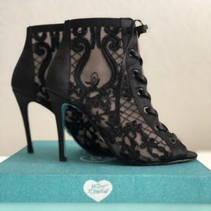 Lace ankle boot heels